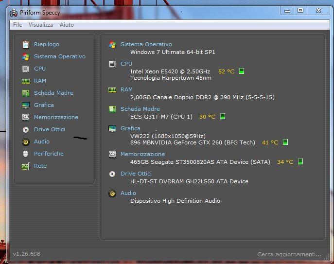come controllare la temperatura del computer