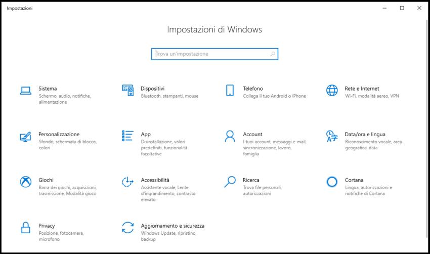 Tornare alla versione precedente di Windows