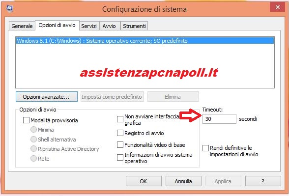 Come velocizzare Windows 8.1 - 10 con il Timeout