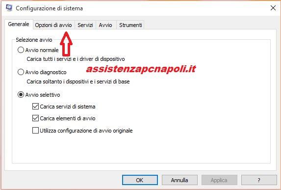 Velocizzare avvio di Windows 10