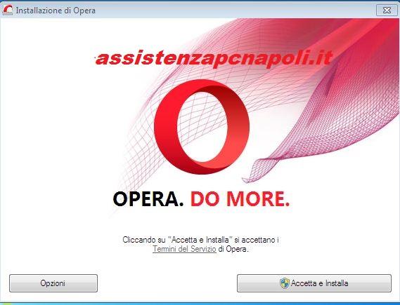 Guida installazione Browser Opera