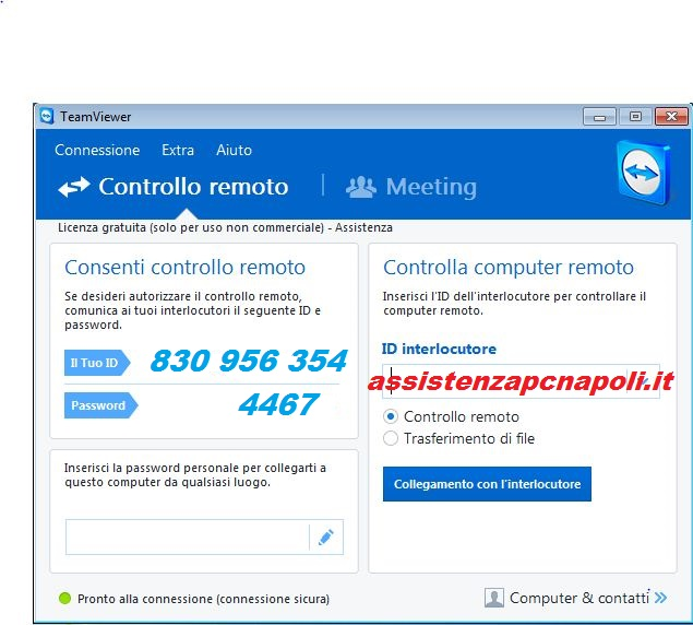 Come ricevere assistenza a distanza con TeamViewer