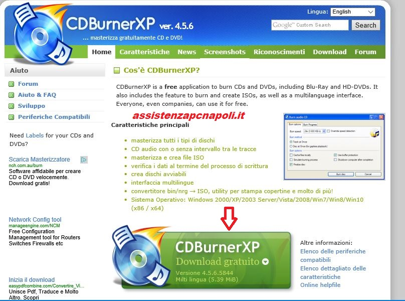 Guida CDBurnerXP