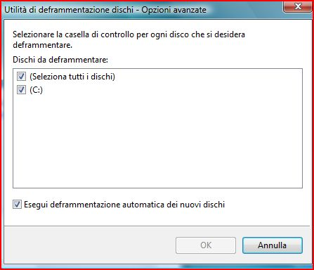 Come Deframmentare il disco rigido su Windows Vista