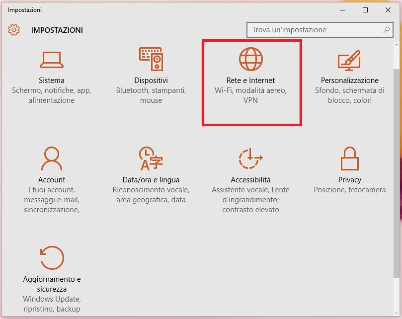 Come cancellare o dimenticare le Reti e password WIFI in Windows 10