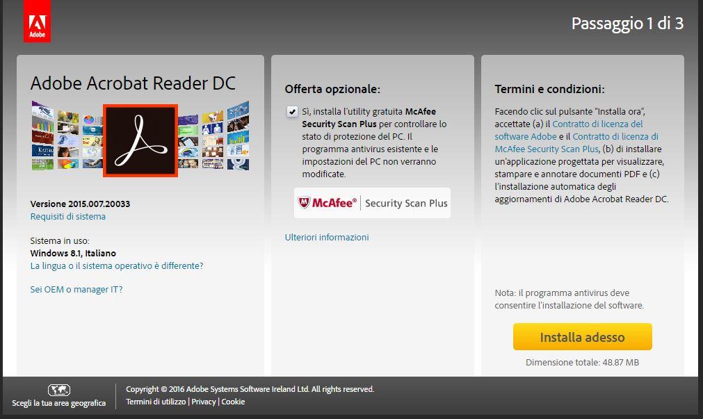 Guida come installare Adobe Reader