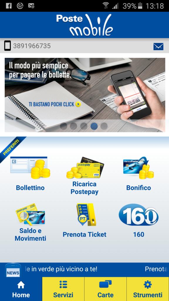 Guida come installare l' applicazione PosteMobile