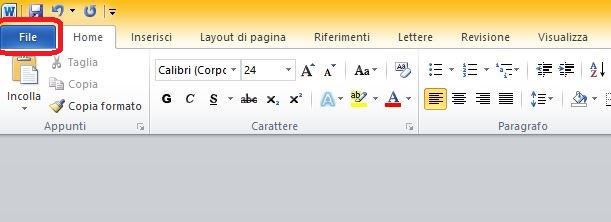 Come trasformare un file Word in PDF