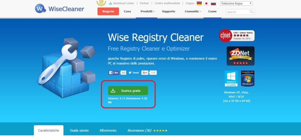 Come pulire il registro con Wise Registry Cleaner