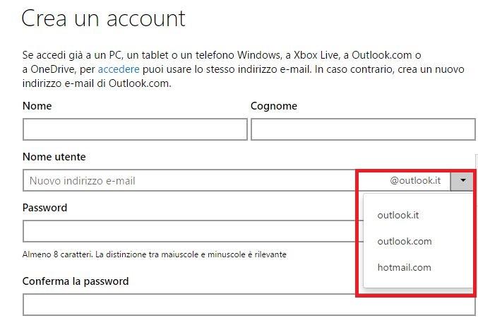 Come creare un Account Outlook