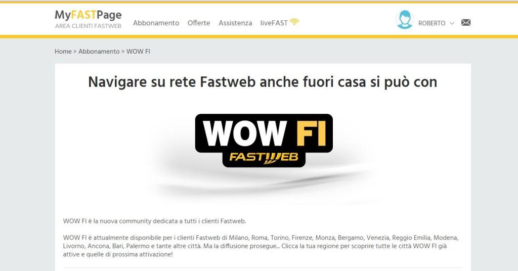 WOW FI - Fastweb il WIFI gratis