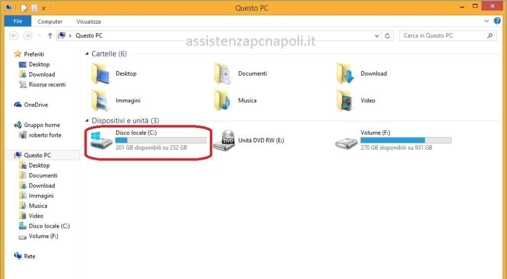 Deframmentare il disco rigido su Windows 8.1