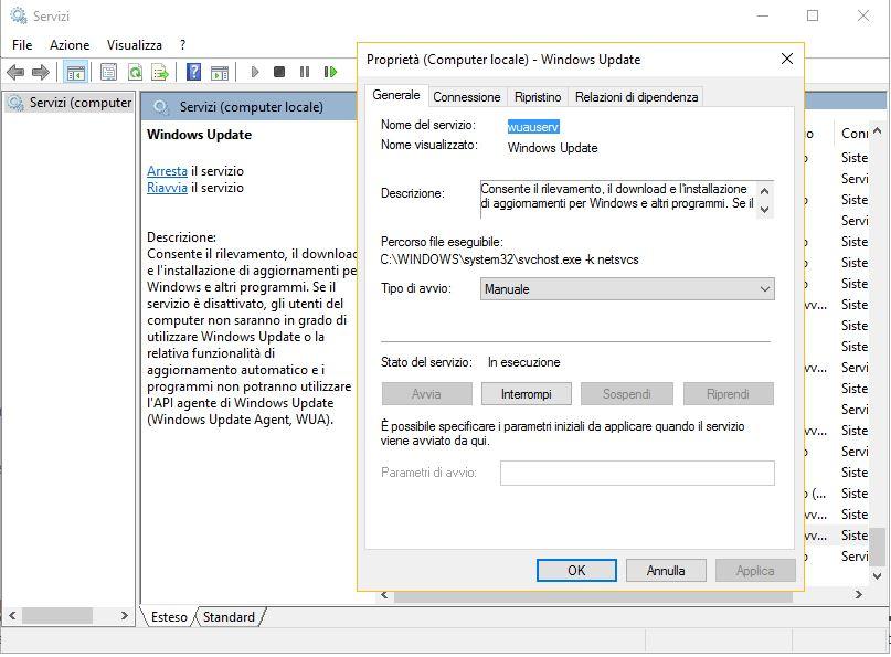 Come disabilitare aggiornamenti windows 10 assistenza pc - Bloccare apertura finestre chrome ...