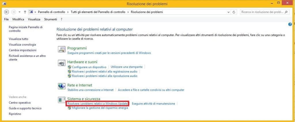 Problema Windows non scarica aggiornamenti
