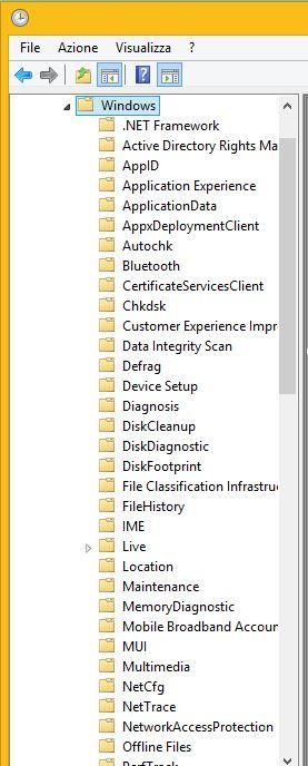 Disattivare manutenzione automatica Windows 8.1