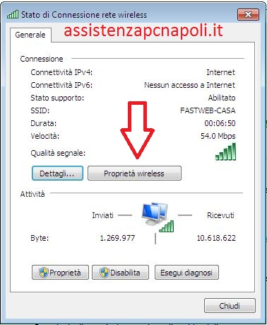 how to change wifi password in windows 7