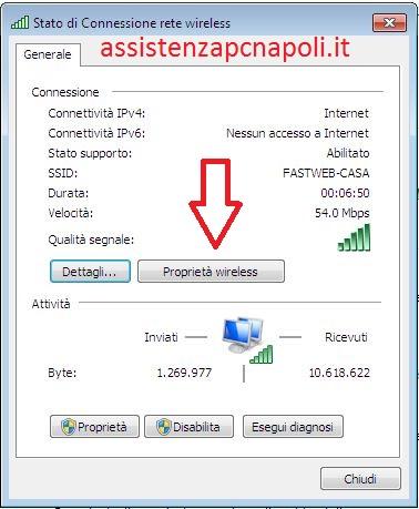 Come recuperare password wifi Windows 7