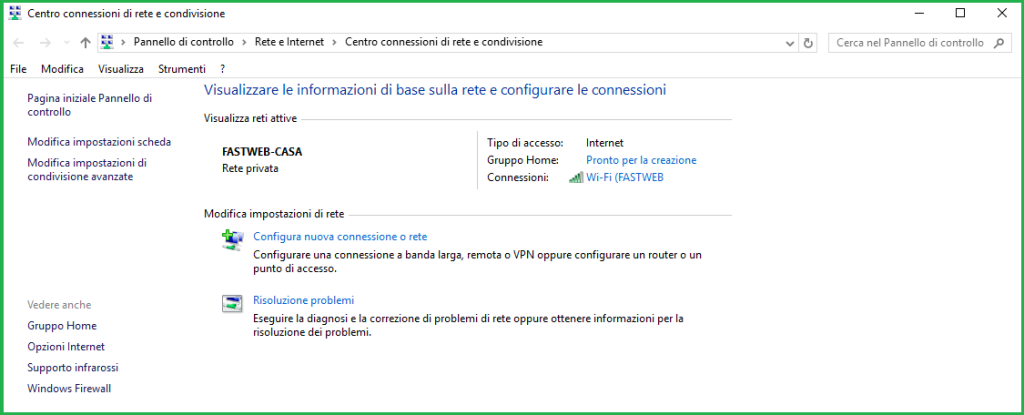 Come trovare la password del wifi windows 10