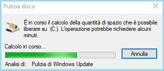 Applicazione integrata pulizia disco Windows 10