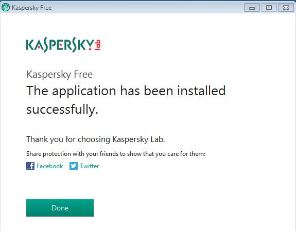 Nuovo Kaspersky Antivirus free