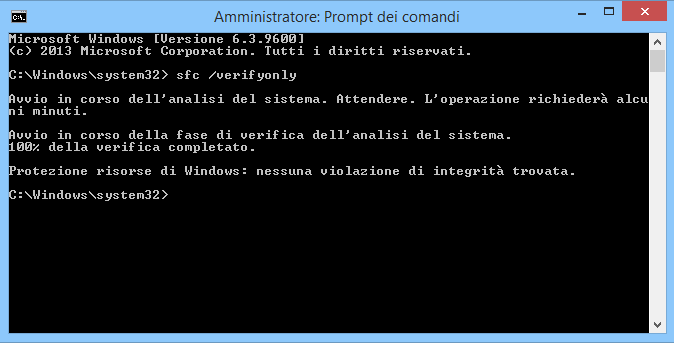 Riparare i file di sistema Windows