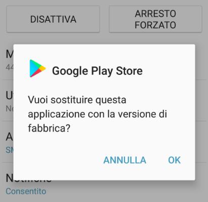 Il programma google play store stato arrestato for Il tuo account e stato attaccato