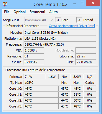 Controllare la temperatura su Windows 10