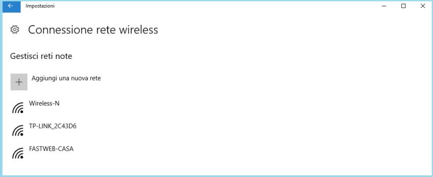 il wifi su Windows 10 non funziona