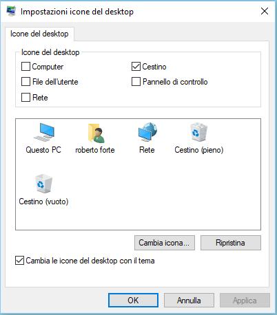 Come ripristinare il cestino su Windows 10