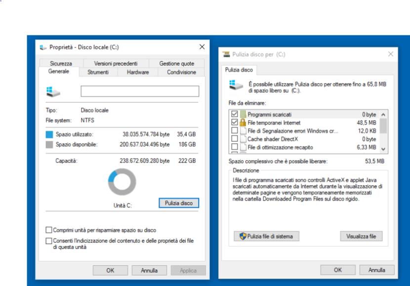Come pulire Windows 10 con Sensore memoria