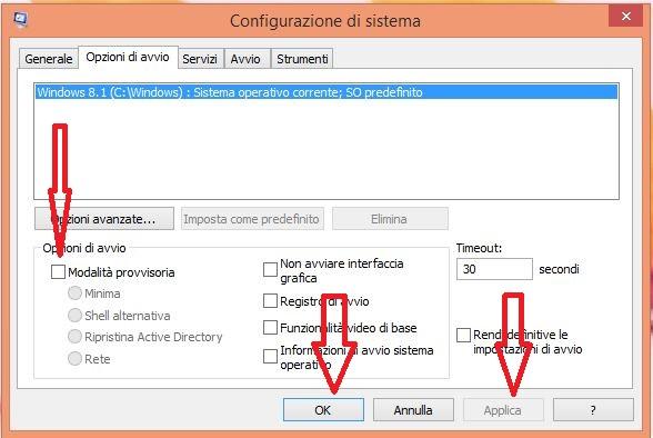 Accedere alla modalità provvisoria Windows