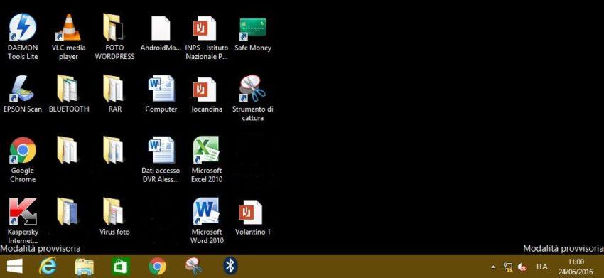 modalità provvisoria Windows 8.1