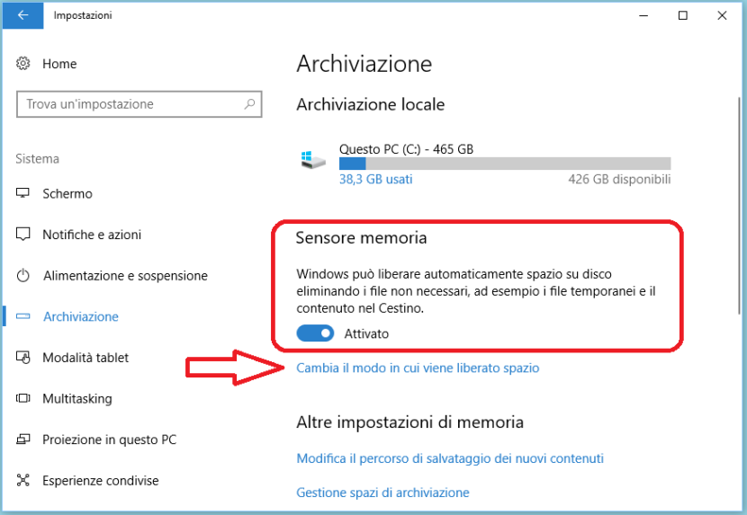 Come pulire Windows 10 automaticamente