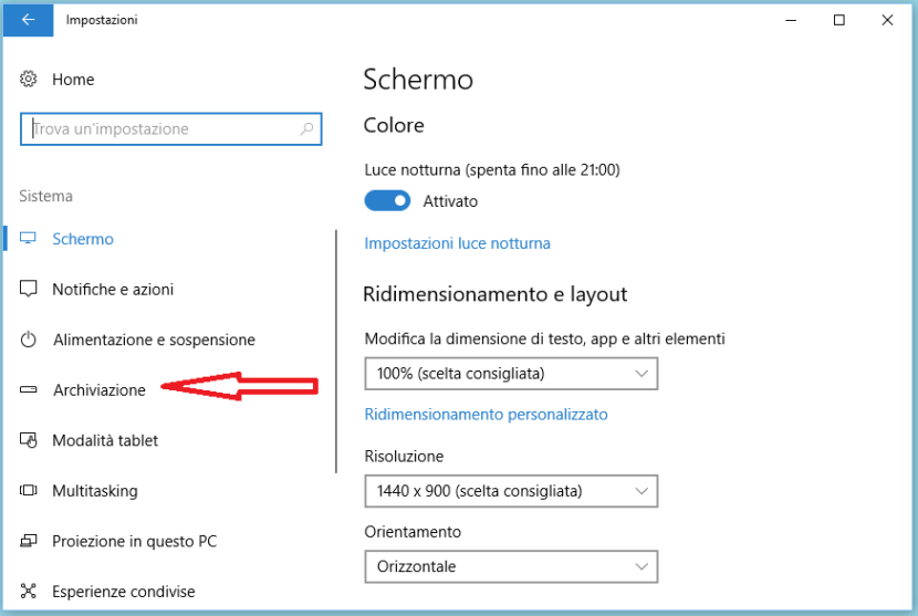 Liberare spazio su Windows 10 automaticamente