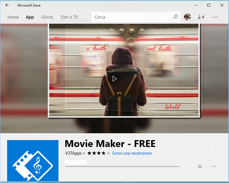 Movie Maker App gratuita Windows 10