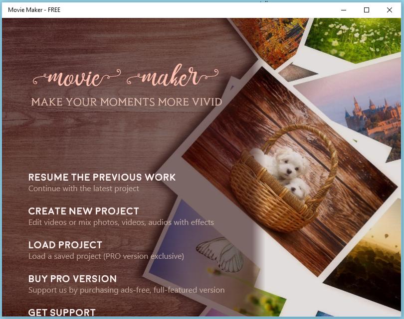 Movie Maker App gratuita Windows 10