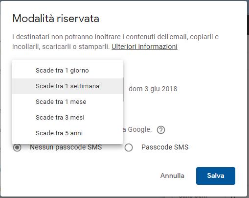 Come inviare le email protette con Gmail