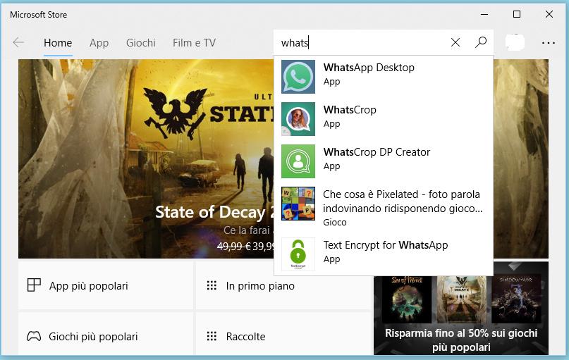 Come installare WhatsApp su Windows 10