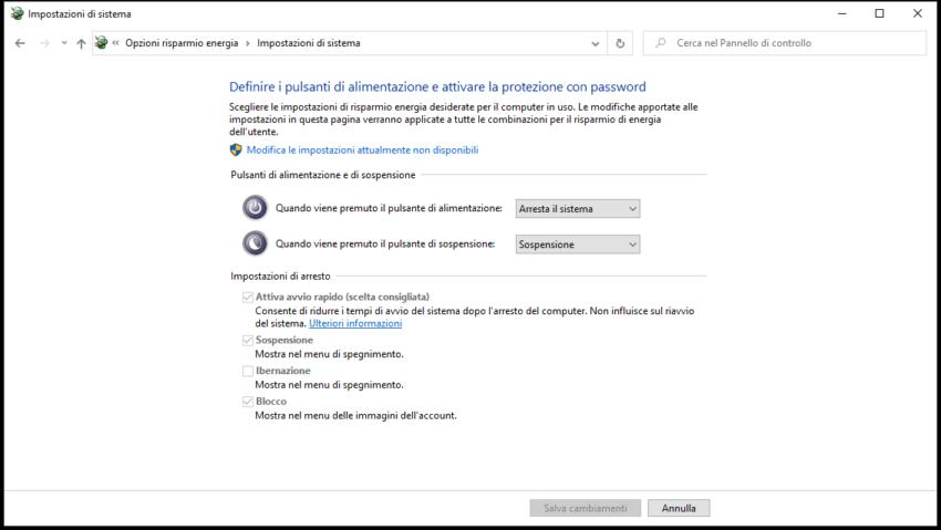 Windows 10 non si spegne
