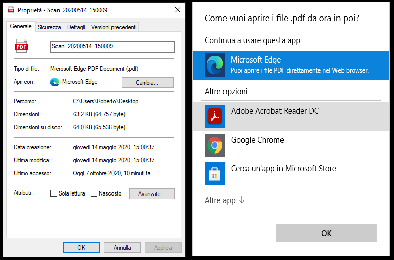 Come cambiare il lettore PDF predefinito su Windows 10