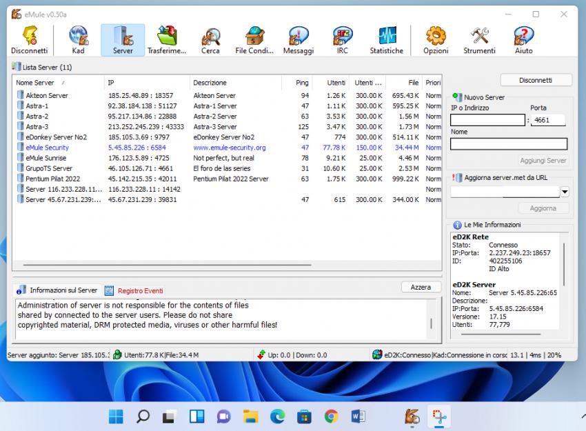 Come installare eMule su Windows 11